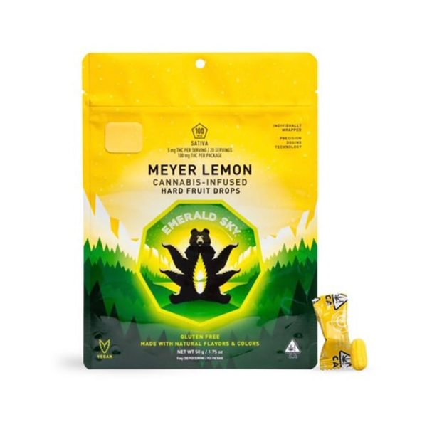 Emerald Sky Drops – Meyer Lemon 100mg