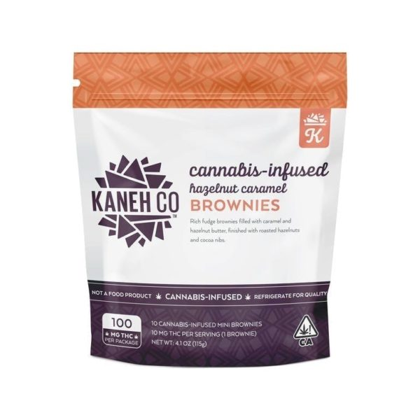 Hazelnut Caramel Brownies - 100mg