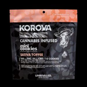 Sativa Toffee Mini Cookies - 100mg THC