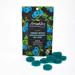 Smokiez Sour Blue Raspberry Fruit Chews